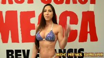 IFBB Bikini Olympia Champ Angelica Teixeira Posing 2-  Weeks Out From The 2018 Arnold Bikini - Female Bodybuilding Muscle Fitness