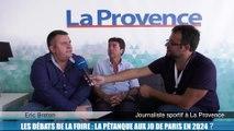 Les débats de la foire de Marseille : la pétanque aux Jeux olympiques ?