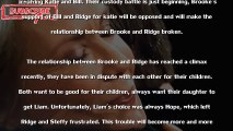 The Bold and The Beautiful Spoilers SHOCKER - Ridge and Brooke will divorce