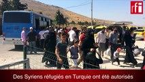 Des réfugiés syriens vivant en Turquie ont pu retourner chez eux quelques jours: ils témoignent