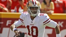 Garoppolo avoids hit with tremendous side-arm pass to Kittle