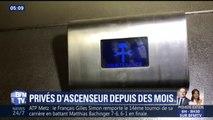 """""""Je ne peux plus me soigner"""", témoigne l'habitante d'un immeuble sans ascenseur depuis 3 mois"""