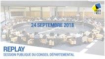 Session du 24/09/2018 en présence du Préfet de Meurthe-et-Moselle