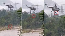 IAF rescues two people from flooded area in Mandi | OneIndia News