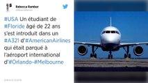 Un étudiant américain accusé d'avoir tenté de voler un avion à l'aéroport d'Orlando.