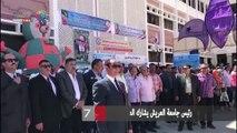رئيس جامعة العريش يشارك الطلاب تحية العلم