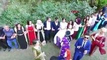 Aşiret düğününde halay çekerek Türkiye haritası oluşturdular