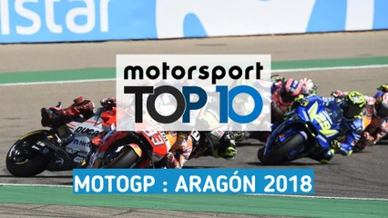Les 10 moments forts du GP d'Aragón MotoGP