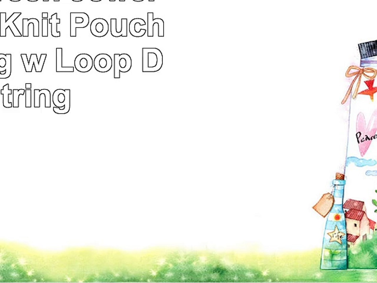 Yellow Small GoKnit Pouch Project Bag w// Loop /& Drawstring