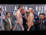Sergey Kuzmin vs. David Price WEIGH IN & FINAL FACE OFF | Joshua vs Povetkin Undercard.