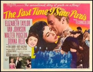 Elizabeth Taylor The Last Time I Saw Paris (1954) Spanish Subtitles