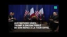 Donald Trump ne se remet (toujours) pas de son dîner à la Tour Eiffel avec Emmanuel Macron