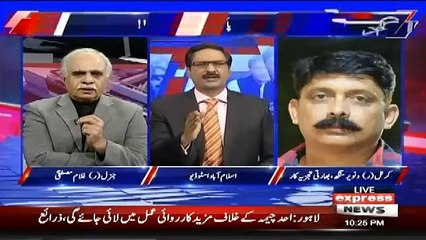 Javed Chaudhry Badly Grills And Takes Class Of Indian Colonel