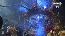 Hong Kong: danse du dragon de feu pour la fête de la mi-automne