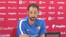 """Machín reconoce que """"atacar al Madrid es difícil porque antes hay que quitarle el balón"""""""