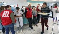 VIDEO. Opération repas gratuits au restaurant de l'hôpital de Niort