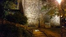 Die Burg Klopp und Bingen am Rhein bei Nacht