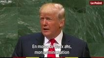 Quand Donald Trump vante son bilan, l'ONU rit