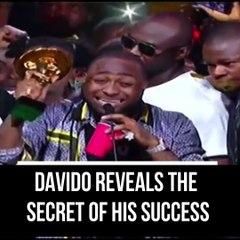 Davido reveals the secret of his success
