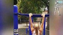 Crazy Street Workout Girl Gina Marie - Female Workout motivation