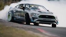 VÍDEO:  Los 900 CV del Mustang de Gittin derrapando en el circuito de Nürburgring
