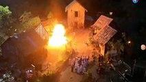 Un groupe d'acteurs a été brûlé lors du tournage d'une scène.