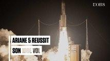 Ariane 5 réussit son 100e vol depuis Kourou
