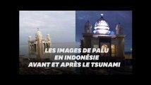 Les images de la ville de Palu, en Indonésie, avant et après le tsunami