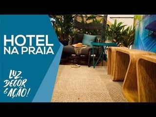 Decoração de Hotel Praiano na Equipotel - Luz, Decor & Ação!