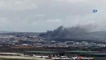 Tuzla Organize Sanayi Bölgesinde fabrika yangını