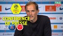 Conférence de presse Paris Saint-Germain - Stade de Reims (4-1) : Thomas TUCHEL (PARIS) - David GUION (REIMS) / 2018-19