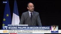 """Congrès des régions: """"Je ne nie pas nos désaccords"""", assure Édouard Philippe"""