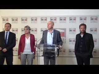 Conférence de presse du Groupe Socialistes et apparentés sur la loi PACTE