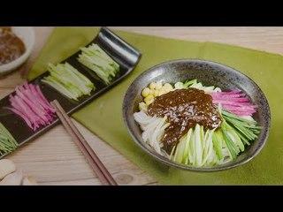 【magic food】自制老北京炸酱面,面码随你放