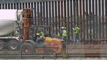 USA/Mexique: construction d'une portion du mur à la frontière