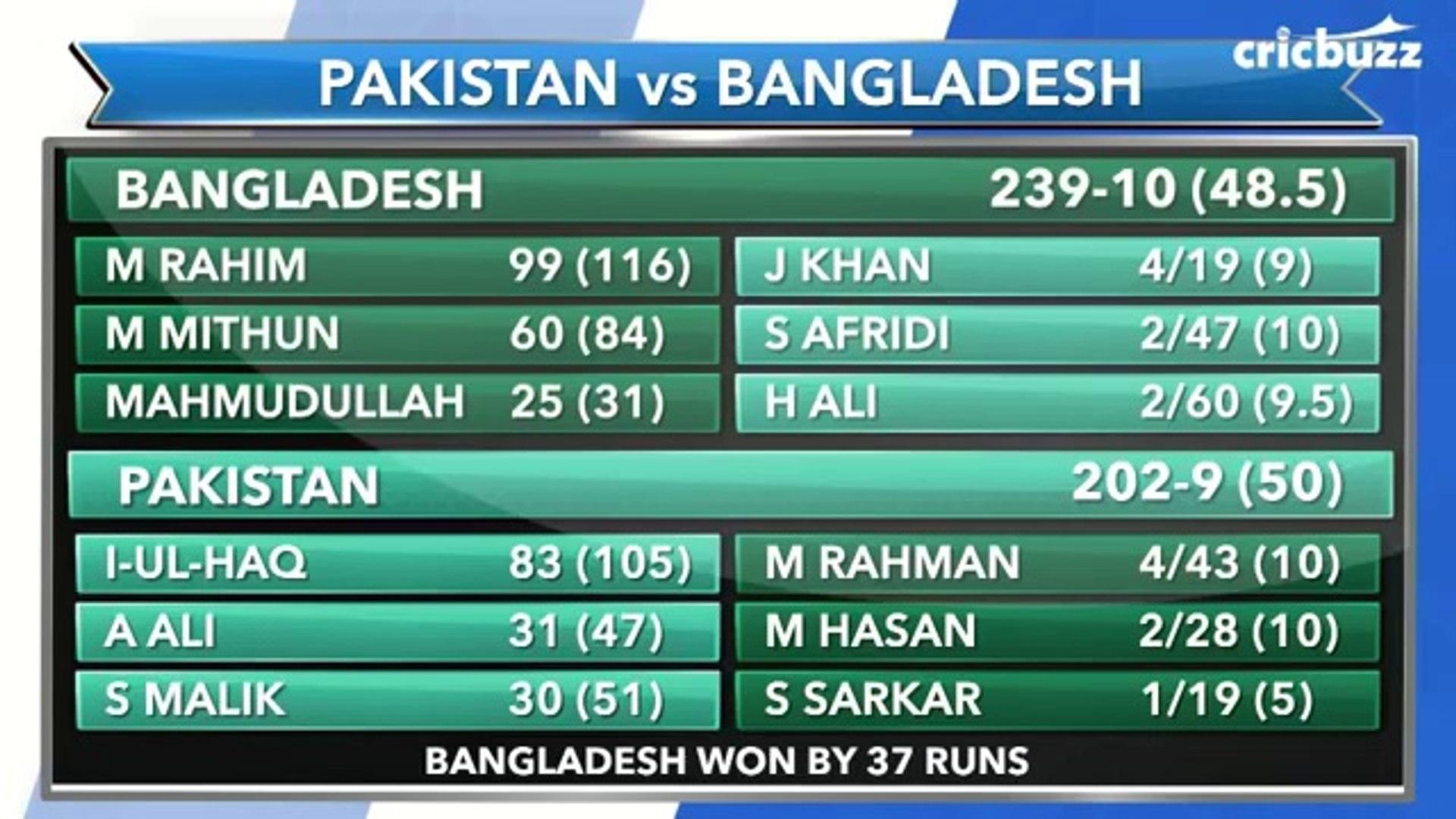 Pakistan vs Bangladesh | Highlights & Analysis | Bangladesh into the Finals