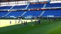 L'entraînement du FC Sochaux avant son match contre l'ASNL au stade Marcel-Picot