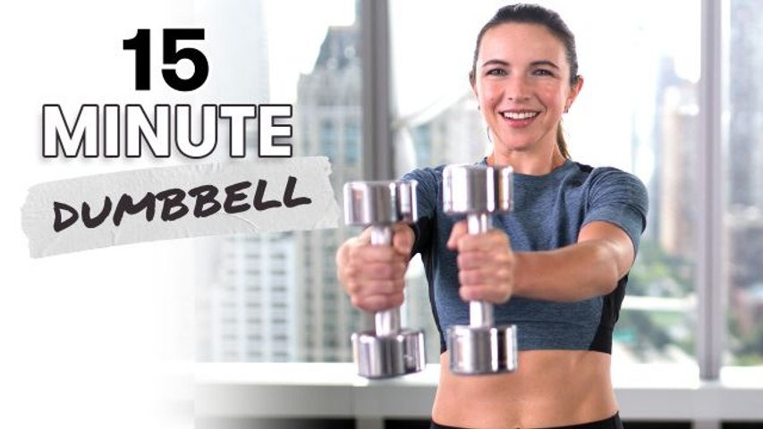 15 Minute Dumbbell Workout For All Levels Video Dailymotion
