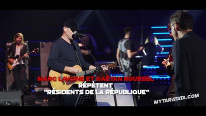 Les coulisses des répètes avec Marc Lavoine & Gaëtan Roussel (2018)