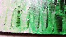 Tableau acrylique contemporain : Fondu vert.