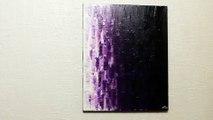 Tableau contemporain acrylique : Fondu violet.