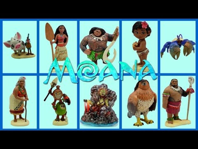 Vaiana die Legende das Ende der Welt Moana Maui Hei Hei 6er-Set Figuren Disney