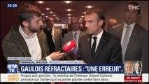"""Gaulois réfractaires: """"une erreur"""" concède Emmanuel Macron"""