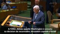 Le président Abbas s'adresse à l'Assemblée générale de l'ONU