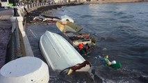 Boats smashed as big storm hits Malta