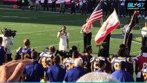 Vanessa Hudgens Singing The National Anthem For 'Thursday Night Football'