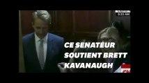 Jeff Flake vote pour Brett Kavanaugh, deux victimes d'agression l'interpelle