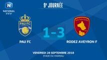 J9 :  Pau FC - Rodez AF (1-3), le résumé