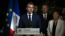 Discours d'Emmanuel Macron en Guadeloupe à Goyave sur les Sargasses