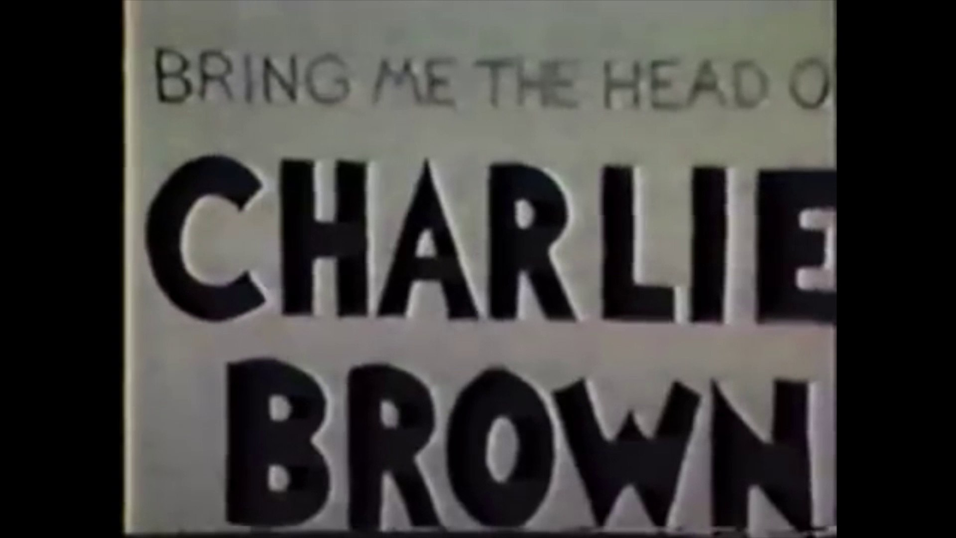 Welcome to Sarentifia | Bring Me the Head of Charlie Brown (1986)